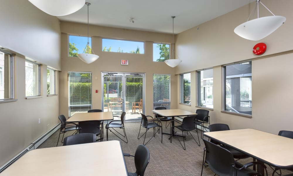 Meeting area at Larchway Gardens in Vancouver, British Columbia