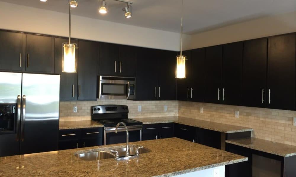 Beautiful kitchen at Radius at Shadow Creek Ranch in Pearland