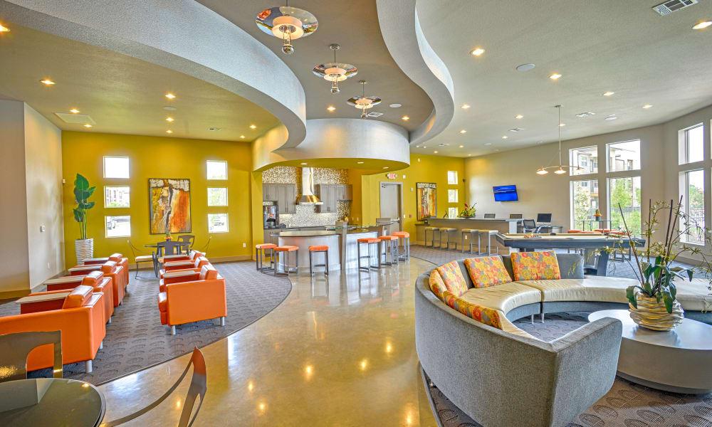 Bright Lobby area at Radius at Shadow Creek Ranch in Pearland