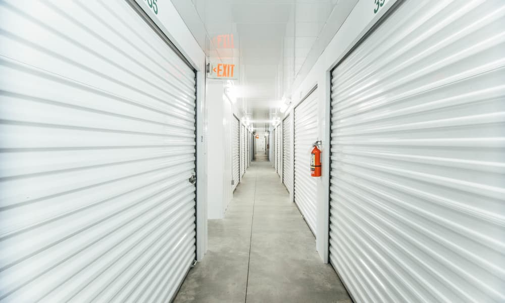 Units hallway at Harrisburg Self Storage