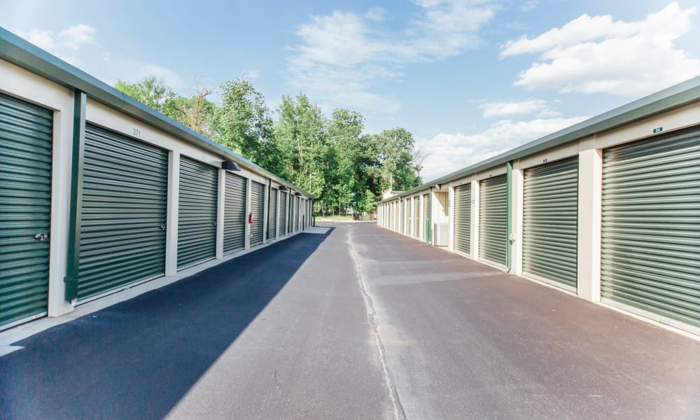 Outdoor units at Harrisburg self storage in North Carolina