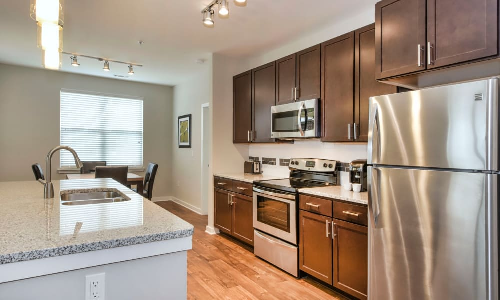 Our apartments in Charlotte, North Carolina showcase a modern kitchen