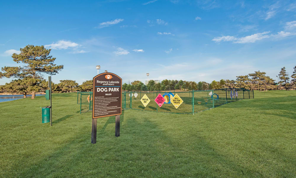 Bark park at Regency Lakeside Apartment Homes