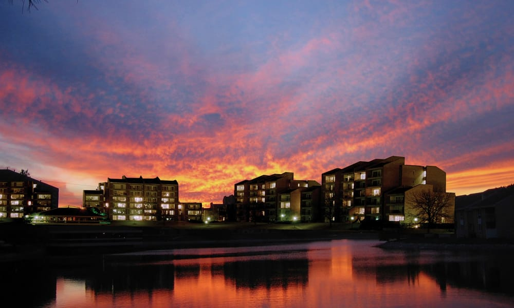 Sunset at Regency Lakeside Apartment Homes