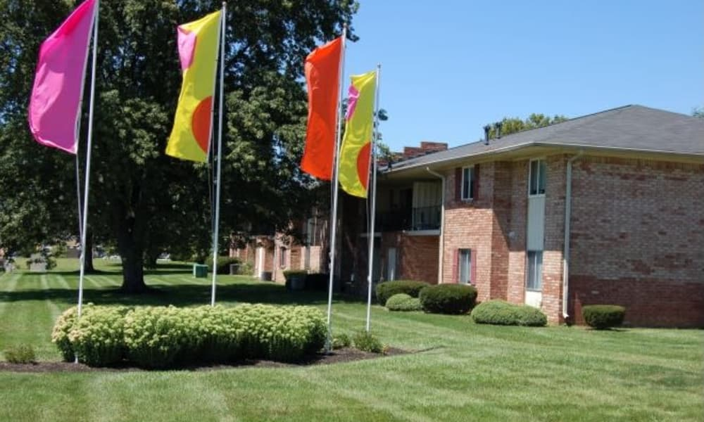 Exterior view of the Beech Meadow Apartments community in Beech Grove, Indiana