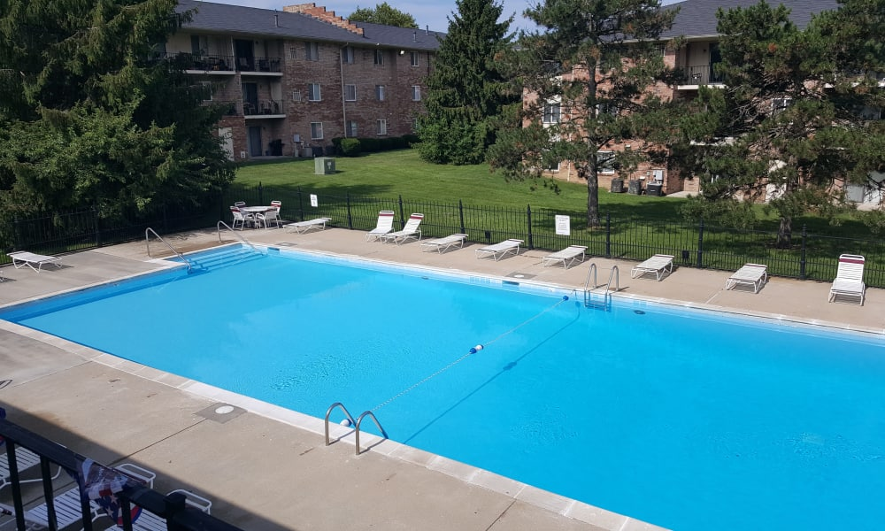 Sparkling swimming pool at Beech Meadow Apartments