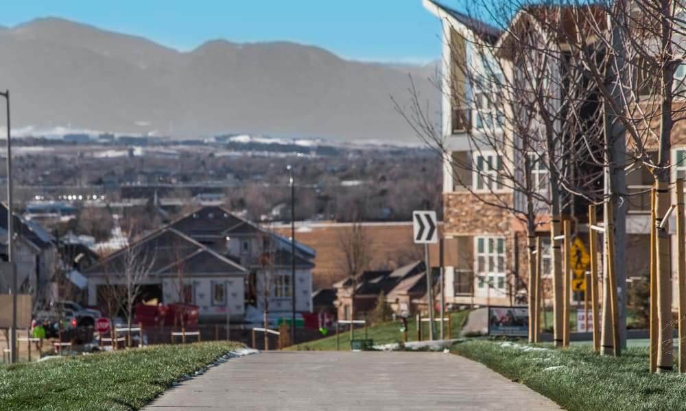 Exterior view of our neighborhood at The Brodie in Westminster, Colorado