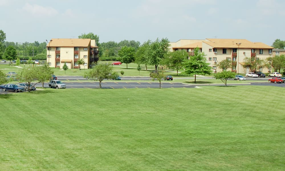 Cedar Ridge Apartment Homes has lots of lawn space for you to enjoy