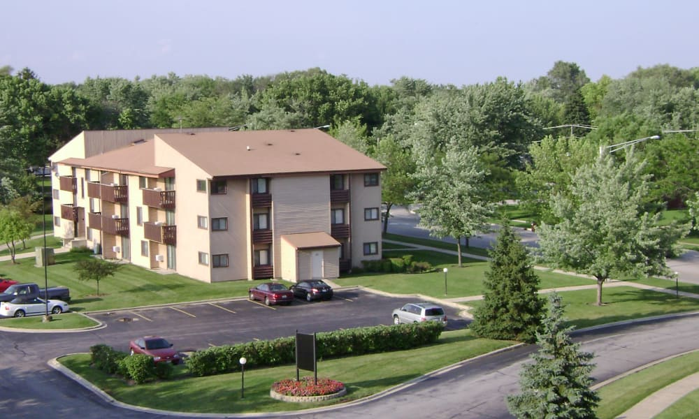 Aerial view of our apartments in Richton Park, Illinois