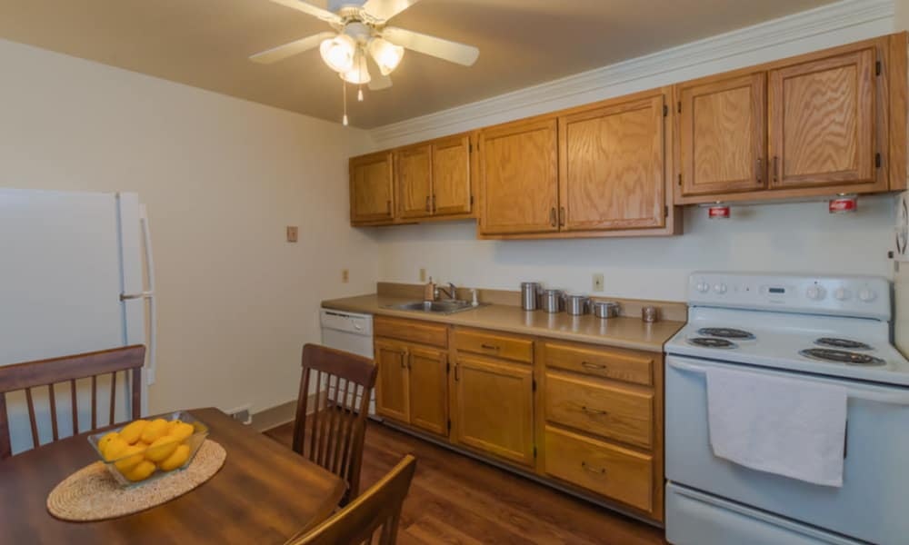 Modern kitchen at Rochester Highlands
