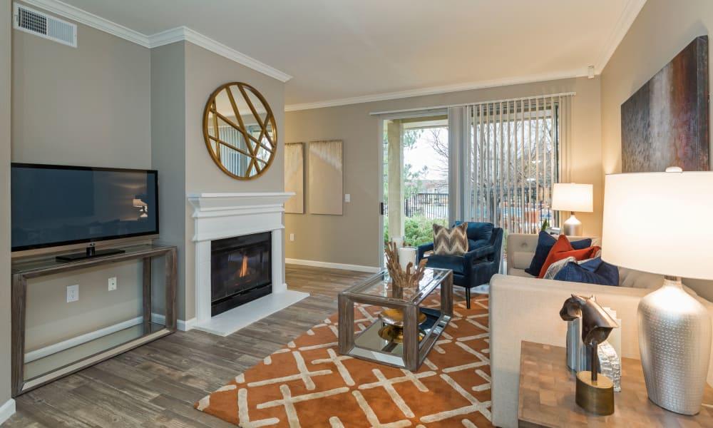 Spacious living room at apartments in Colorado Springs, Colorado