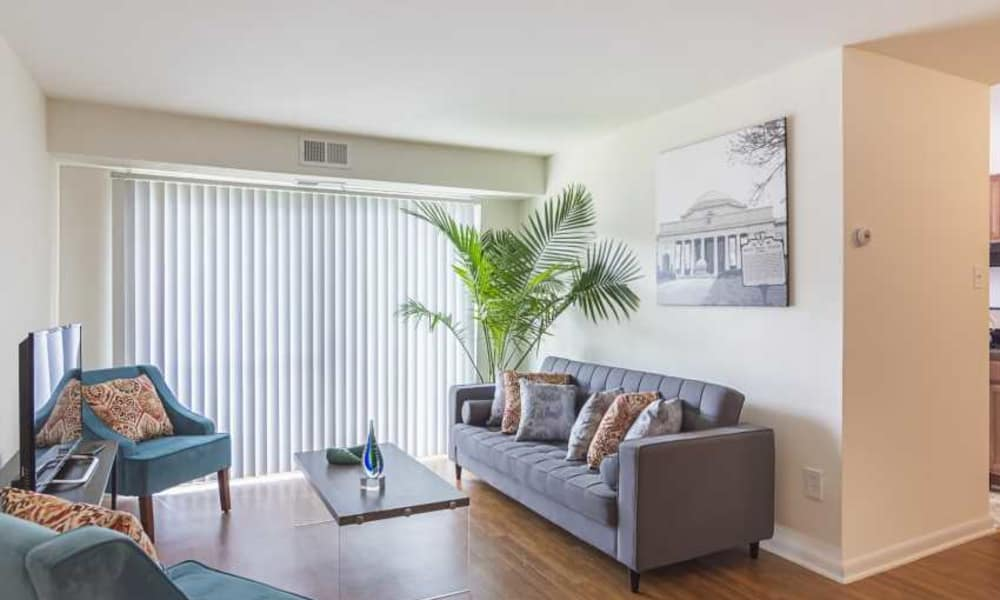 The Residences at Brookside showcase a naturally well-lit living room in Richmond
