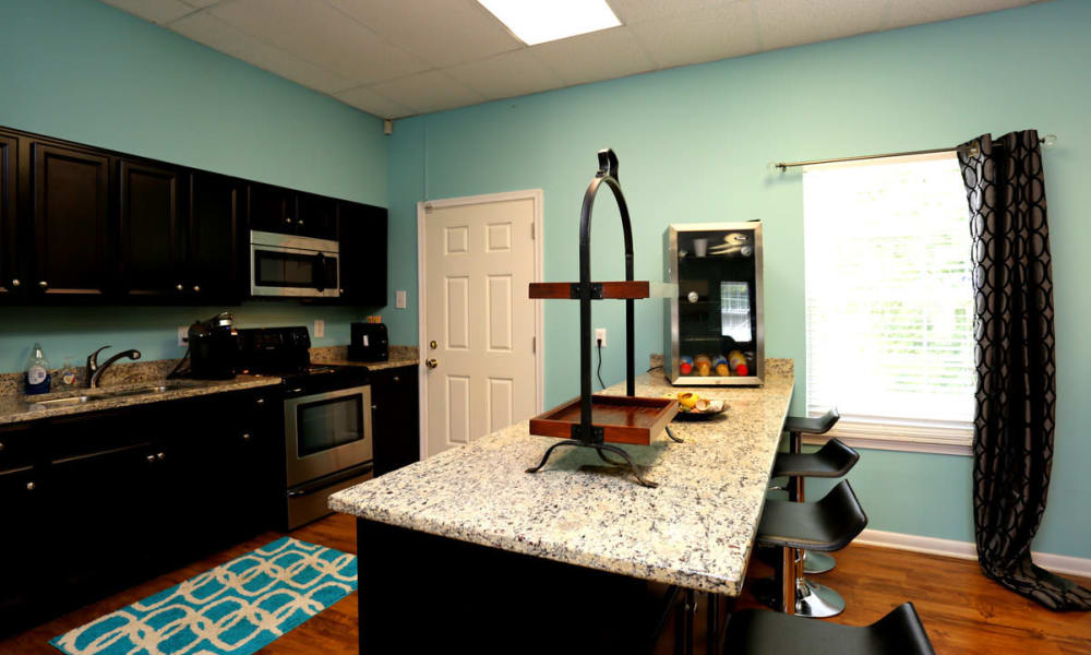 Kitchen with island at The Residences at Brookside