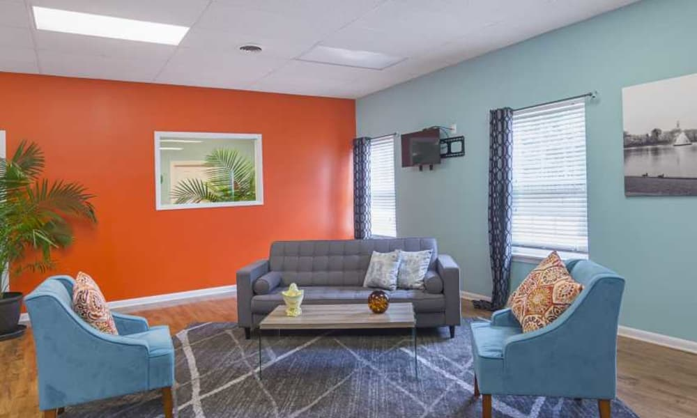 Clubhouse sitting area at The Residences at Brookside