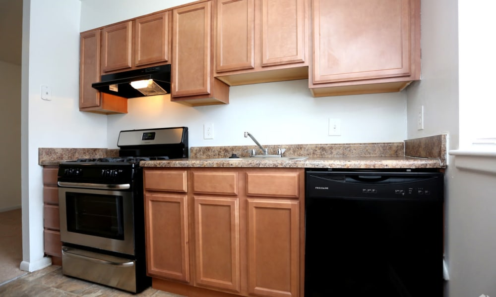 Kitchen at The Residences at Brookside