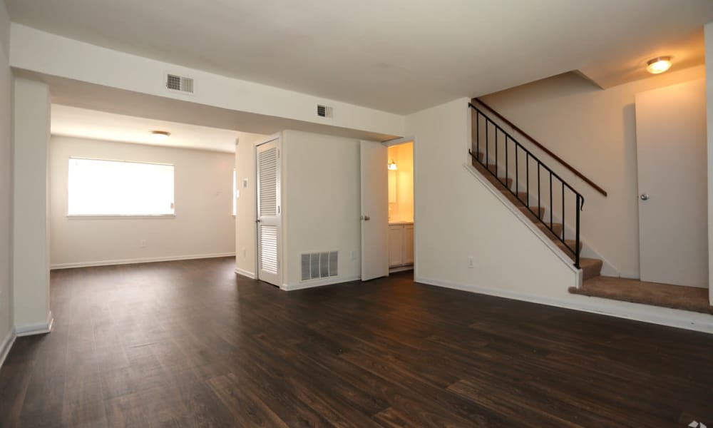 Open floor plan space at The Residences at Brookside