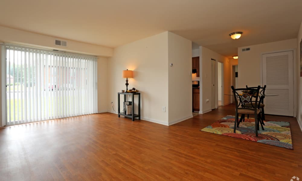 Spacious living room at The Residences at Brookside