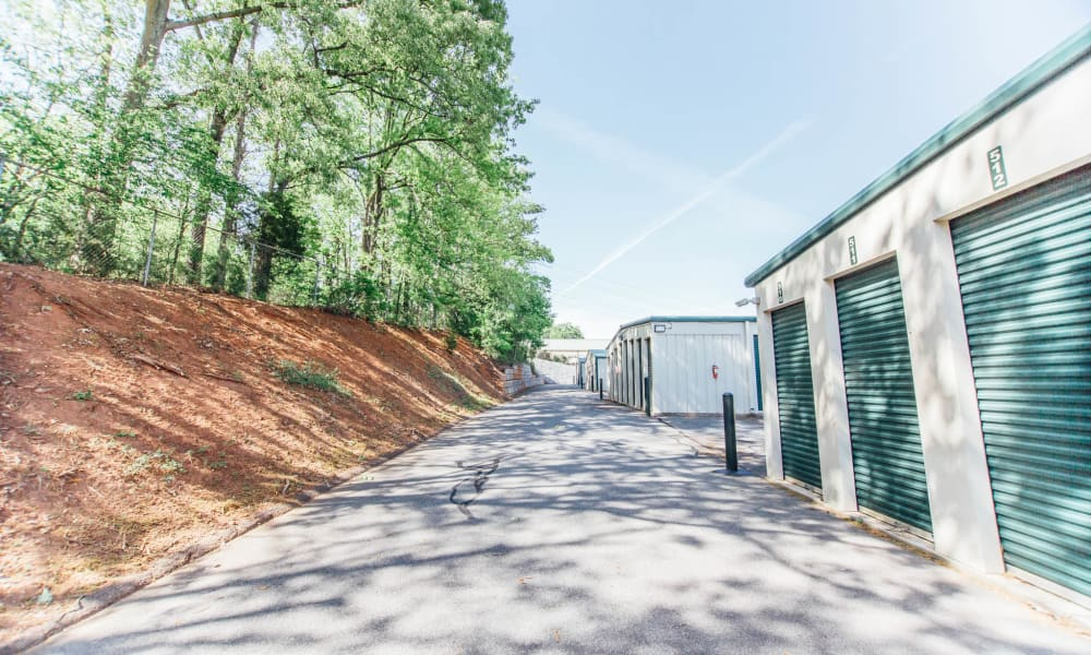 A view of the self storage units in Harrisburg, NC