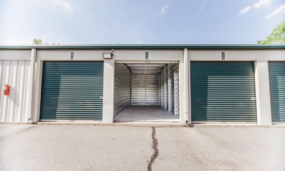 Open unit at Harrisburg Speedway Storage in Harrisburg, NC