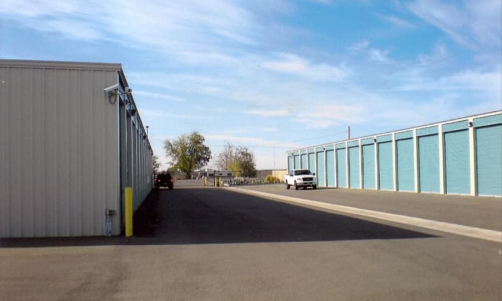 Exterior view of self storage units at Terminous RV & Boat Storage