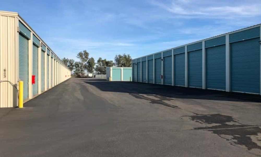 Terminous RV & Boat Storage offers outdoors self storage units for rent in Lodi, California