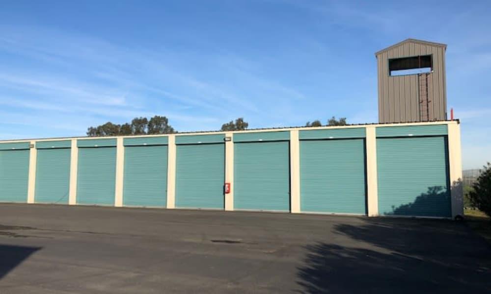 Exterior view of self storage units at Terminous RV & Boat Storage in Lodi, California