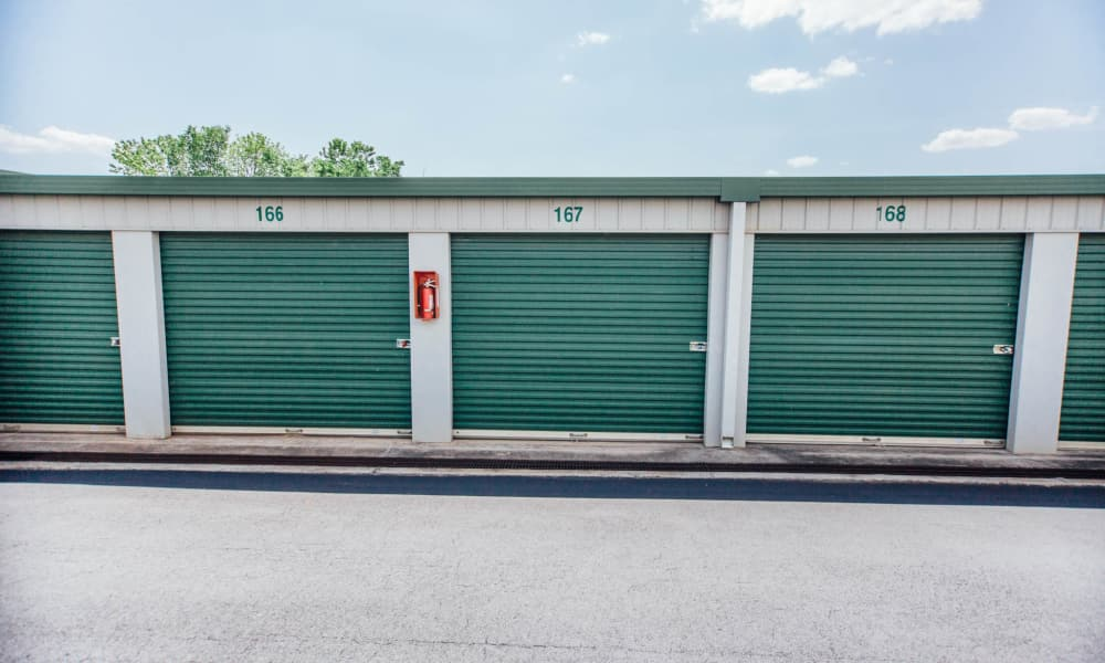 Exterior view of our self storage units in Concord, NC