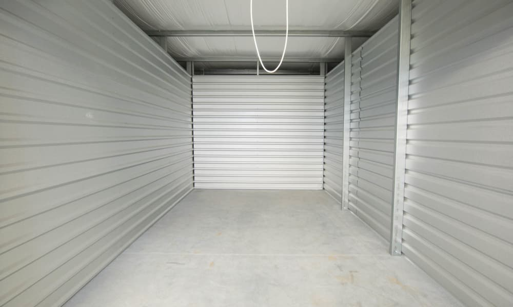 Interior view of self storage units in Concord, NC