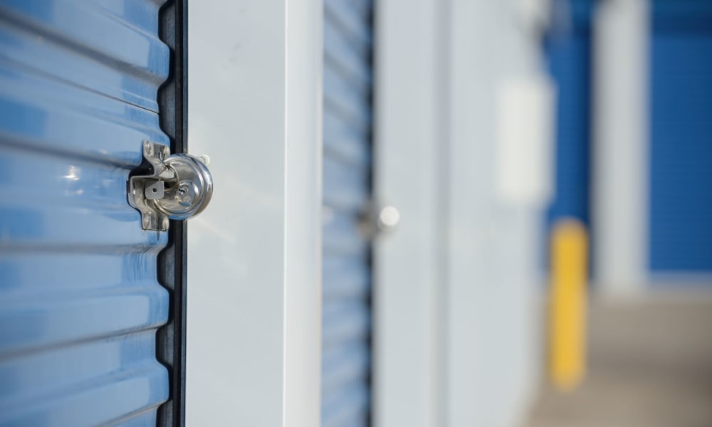 Self storage units with padlocks in High Point, NC