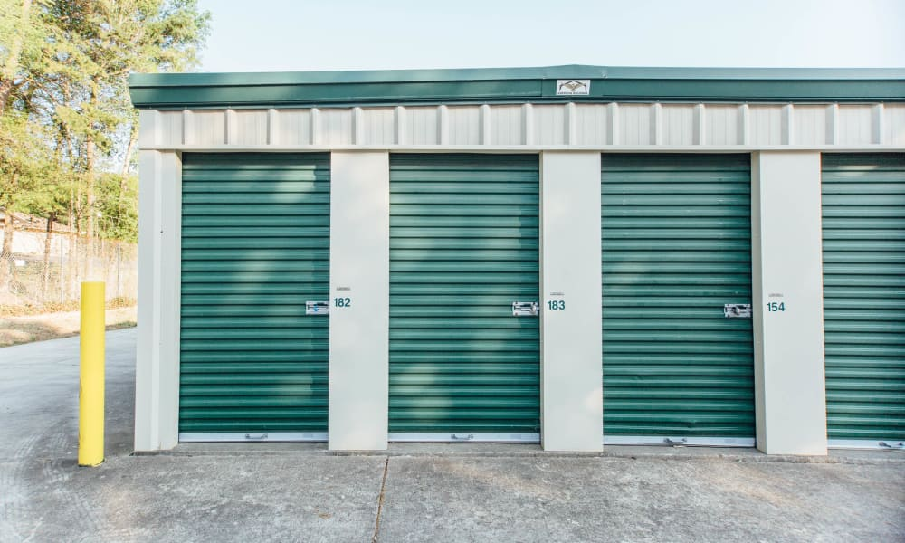 Exterior view of self storage units at AAA Ministorage in Durham