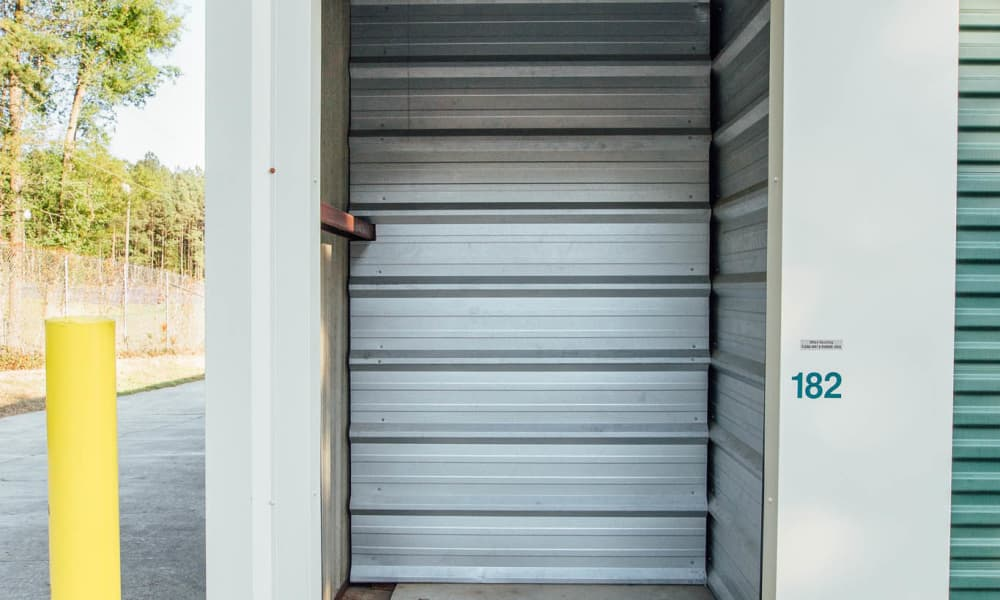 Look inside at our self storage units in Durham, NC