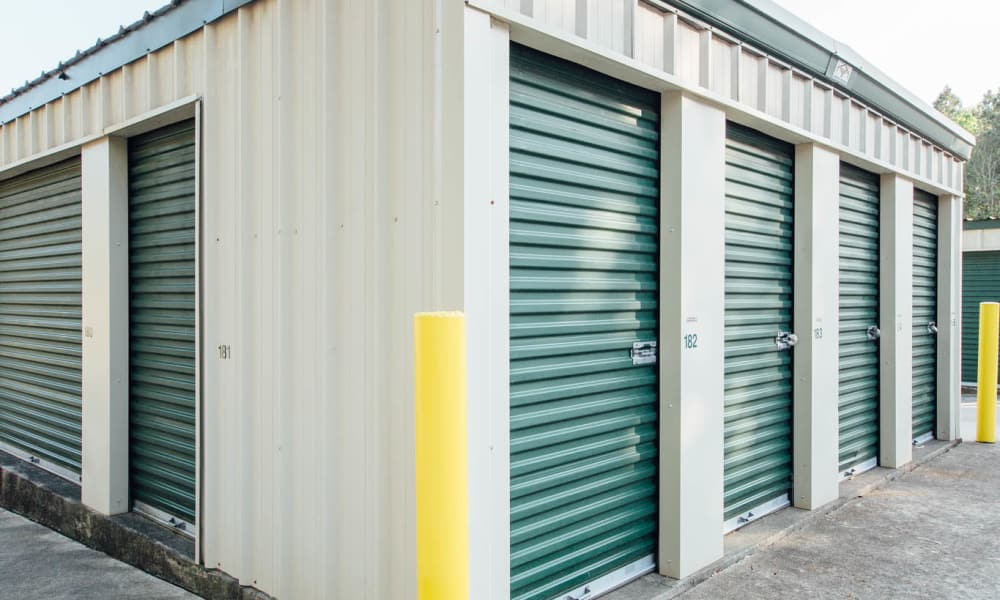 Exterior view of self storage units in Durham, NC