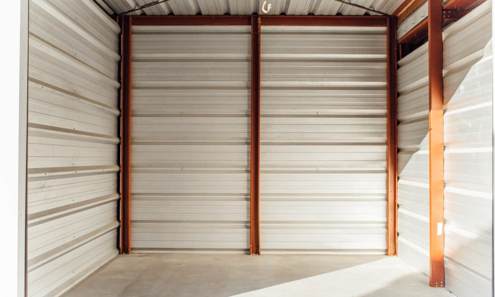 Self storage unit inside view at AAA Ministorage in Durham