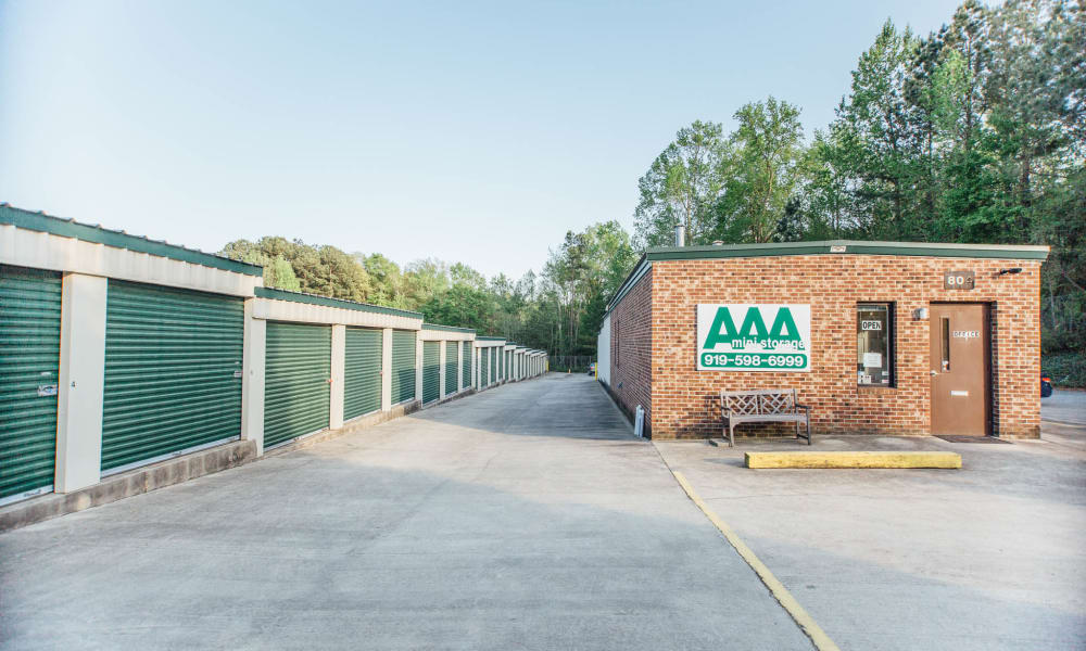 Exterior view of AAA Ministorage in Durham, NC