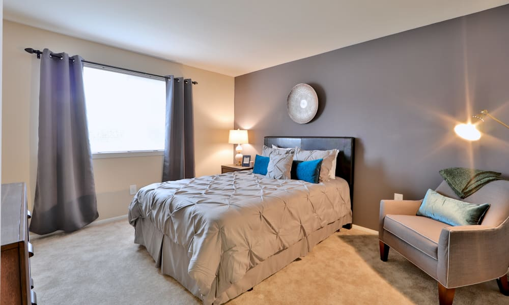 Beautiful bedroom at Taylor Park Apartment Homes in Nottingham, MD