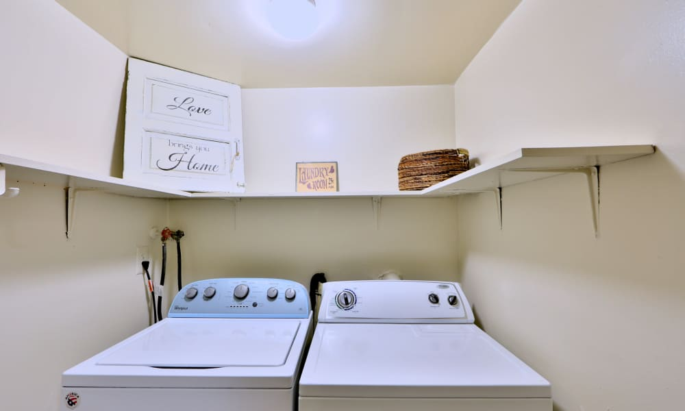 Spacious laundry room at Taylor Park Apartment Homes in Nottingham, MD