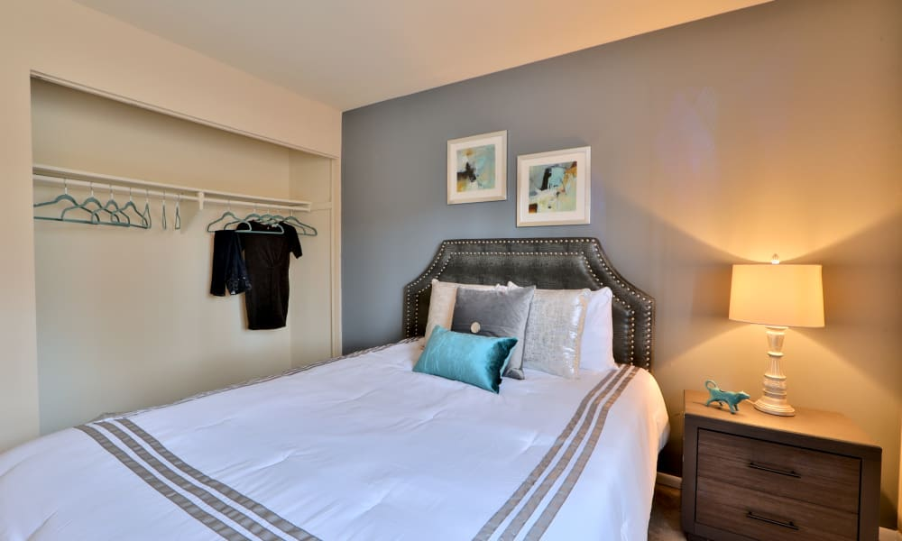 Taylor Park Apartment Homes offers a beautiful bedroom with closet in Nottingham, Maryland