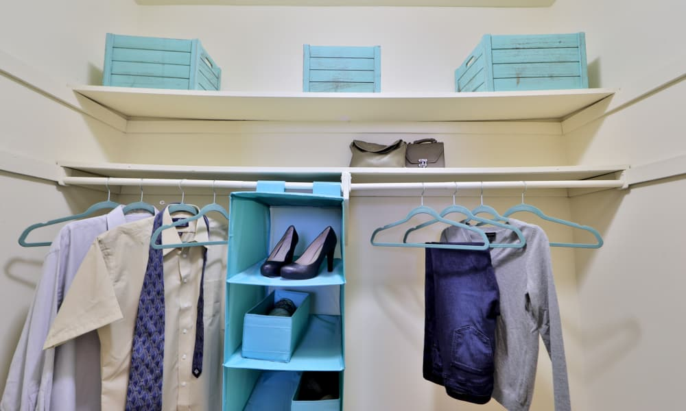 Spacious walk-in closets at Taylor Park Apartment Homes in Nottingham, MD