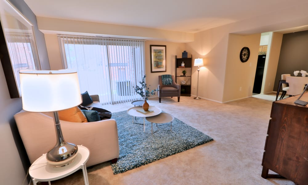 Spacious living room at Taylor Park Apartment Homes in Nottingham, MD