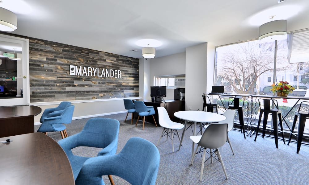 The Marylander Apartment Homes offers a study room in Baltimore, MD