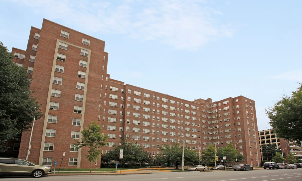 The Marylander Apartment Homes offers walking paths in Baltimore, MD