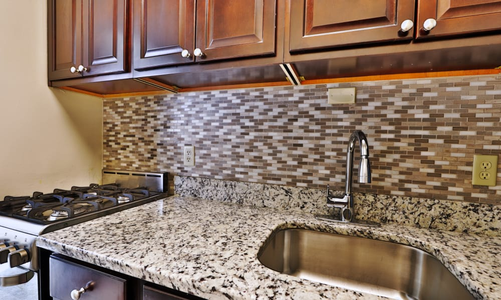 Enjoy apartments with a kitchen at The Marylander Apartment Homes