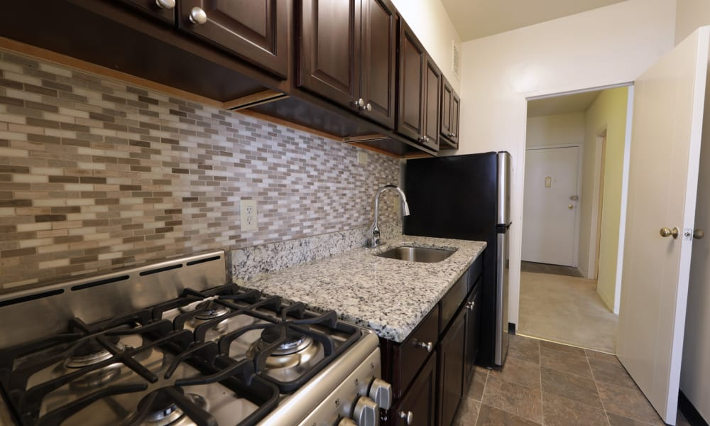 Spacious kitchen at The Marylander Apartment Homes