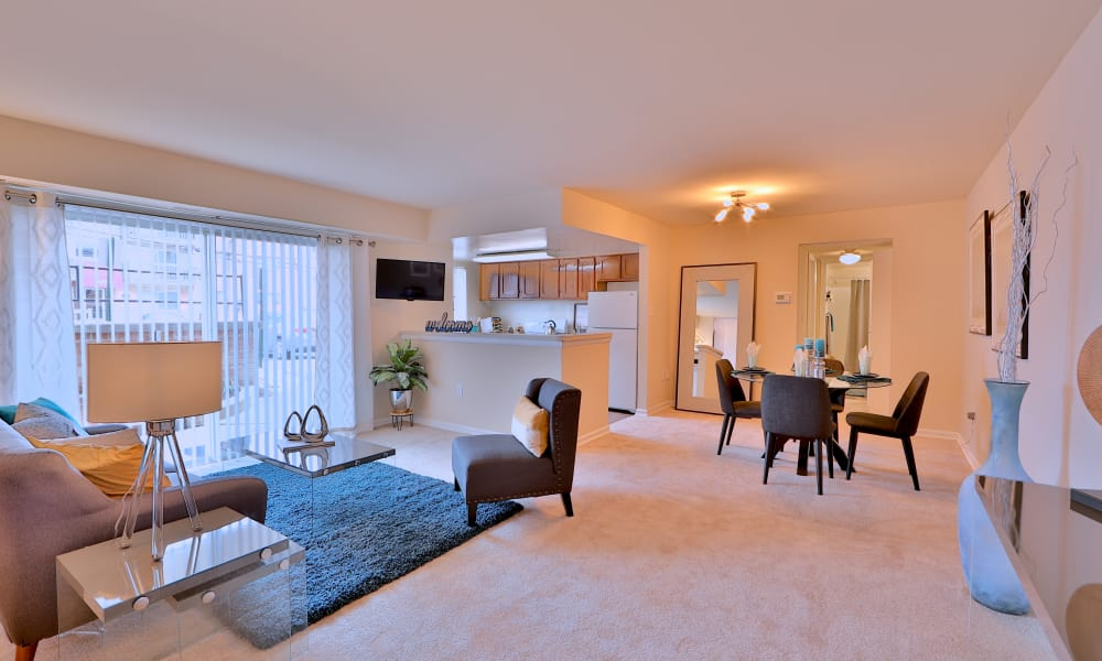 Ample living spaces at Princeton Estates Apartment Homes