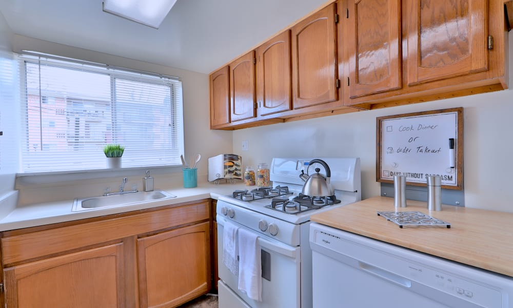 Enjoy a well equipped kitchen at Princeton Estates Apartment Homes