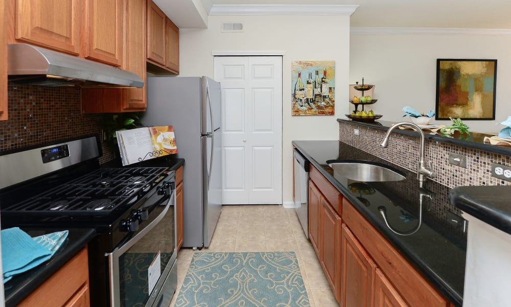 Beautiful kitchen at Bishop's View Apartments & Townhomes