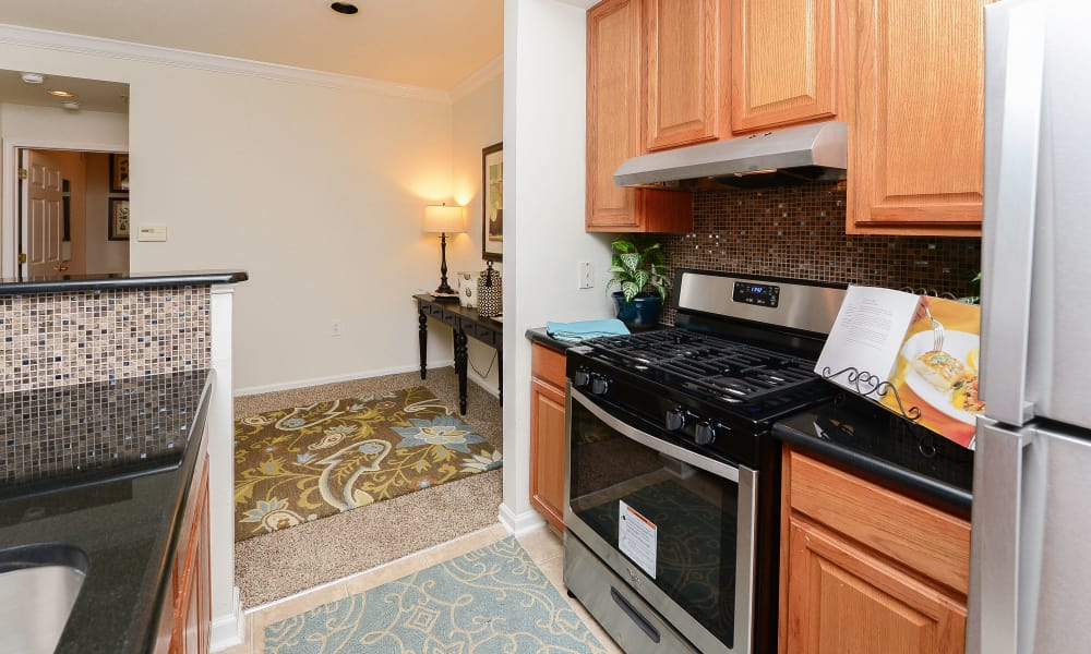 Kitchen at Bishop's View Apartments & Townhomes in Cherry Hill, NJ