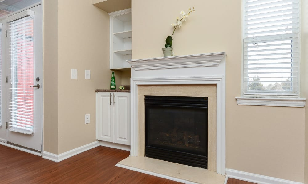 Fireplace at Bishop's View Apartments & Townhomes