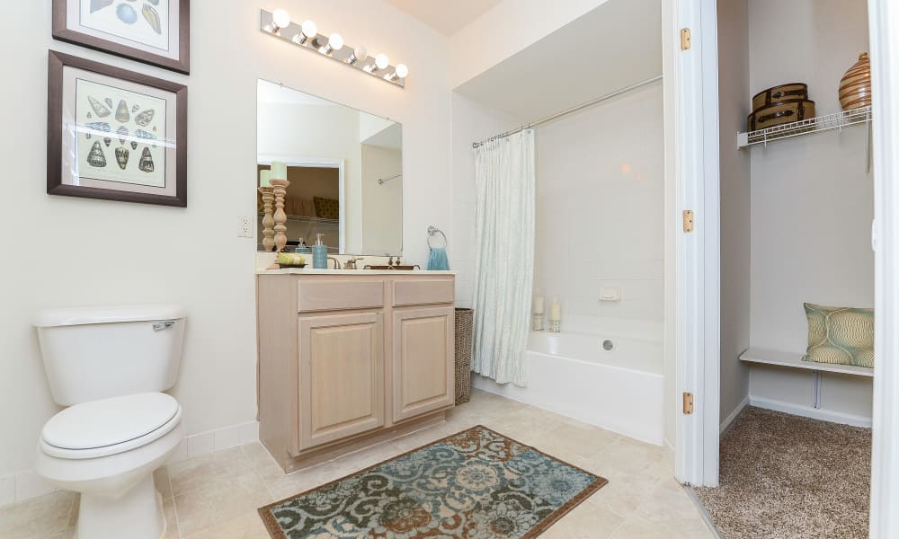 Bathroom at Bishop's View Apartments & Townhomes