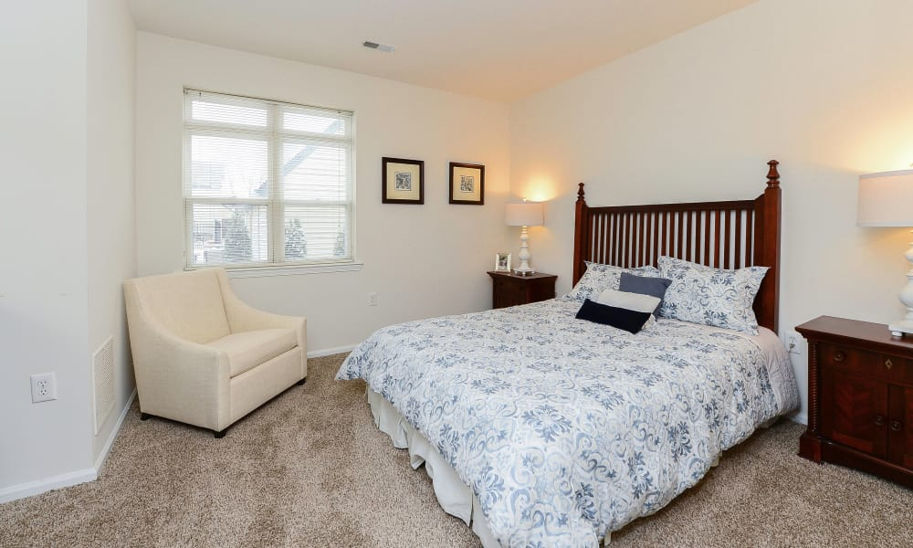Bishop's View Apartments & Townhomes offers a bedroom in Cherry Hill, NJ
